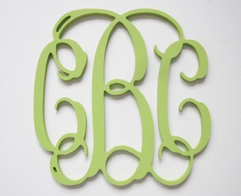 Vine Monogram Letters