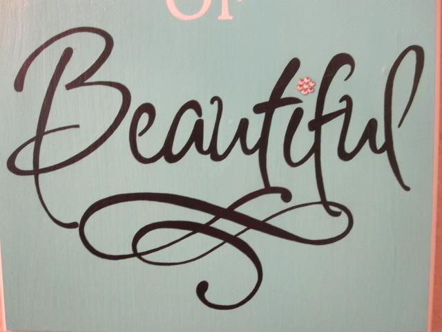 Be Your Own Kind of Beautiful Plaque-painted plaques, painted door plaques,