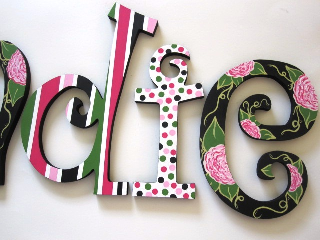 Midnight Bloom Wall Letters-Nursery Wall Letters