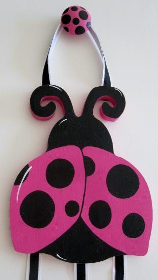 Ladybug Hair Bow Holder-Lady bug nursery Hair Bow Holder