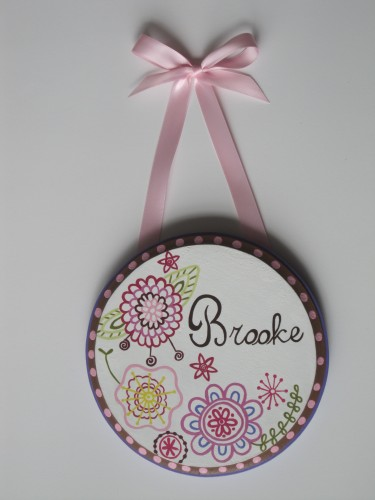 Bohemian Bloom Round Plaque-Pottery barn bohemian bloom wall decor plaque
