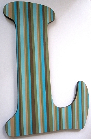 Striped Wall Letters-