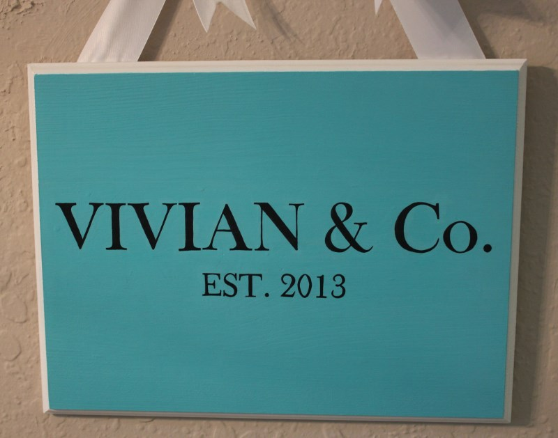 Tiffany Plaque-painted plaques, painted door plaques,
