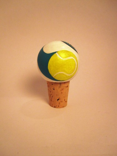 Tennis Wine Bottle Topper-
