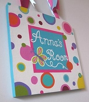 Anna's Plaque-painted plaques, painted door plaques,