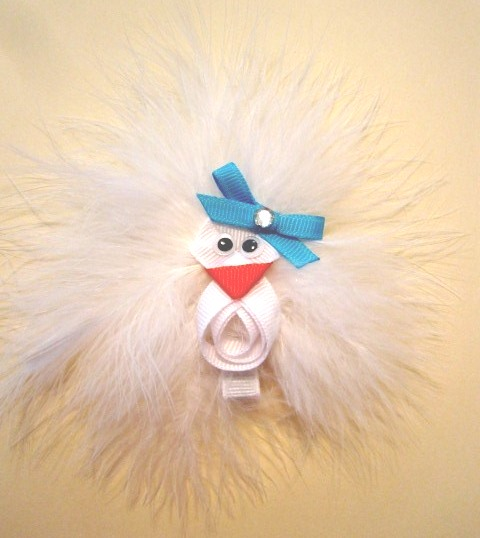 Funky Chicken Hair Clip-Chicken sculptured hair bow clip