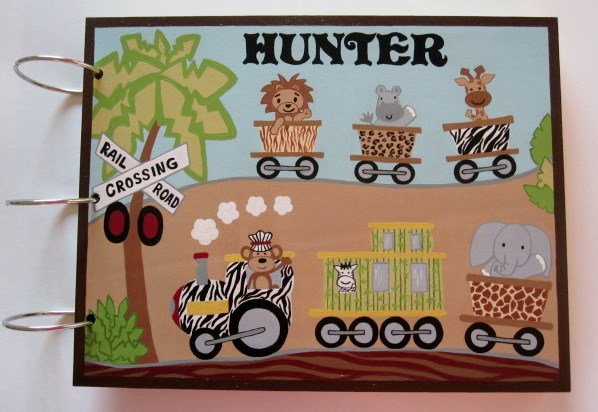 Safari Express Baby Shower Guest Book-Lambs and ivy, lambs and ivy safari express, baby shower guest book