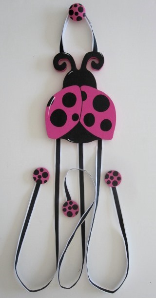 Ladybug Hair Bow Holder-Lady bug nursery Hair Bow Holder