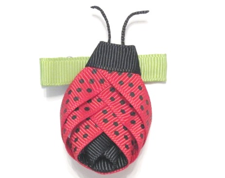 Ladybug Hair Clip-Ladybug sculptured hair bow clip
